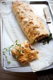 vegan wellington with seitan roasted kale