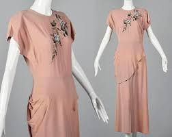 1940s evening dress etsy