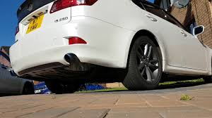 lexus is250 f sport tire size lexus is250 f sport straight pipe cold start youtube