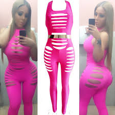 cheap jumpsuit cheap sleeveless strappy cut out solid polyester one