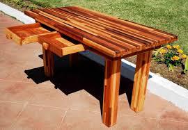 outdoor u0026 garden unfinished cedar display patio buffet table with