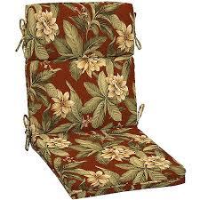 High Back Patio Chair Cushion Arden Floral High Back Chair Cushion With Welt Walmart