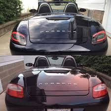 porsche boxster rear i did a full led upgrade to my boxster here is the rear before