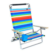 Beach Chairs At Walmart Deluxe 5 Pos Lay Flat Aluminum Beach Chair W Cup Holder 250 Lb