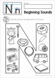 phonics letter of the week n beginning sounds coloring activity