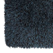 Bathroom Accent Rugs by C18 Chocolate And Teal Shag Accent Rug 27x42 In At Home At Home