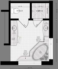 his and bathroom floor plans floor plan for master bath we stayed in a hotel with this plan