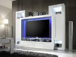 Wohnzimmerschrank Ohne Tv Trendteam Mx92101 Wohnwand Tv Möbel Weiss Hochglanz Bxhxt