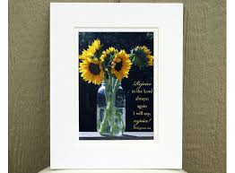 Religious Home Decor Sunflower Decor Philippians 4 4 Rejoice In The Lord Christian Aftcra