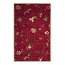 home decorators collection lenore red 3 ft x 5 ft area rug