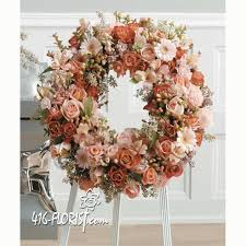 funeral wreaths color funeral wreath spray