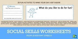 free social skills worksheets 20 activities to make your day a