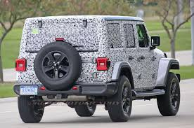 spied 2018 jeep wrangler jl unlimited totally uncovered