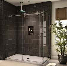 Glass Shower Doors Cost Sleek Design Modern Tastes Circular Frameless Shower Enclosure For