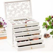 box necklace holder images 6pcs luxury hollow out female large jewelry box 6 drawers wooden jpg