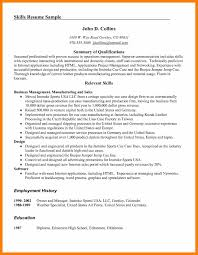 Employment History On Resume 6 Skills On Resume Examples Janitor Resume