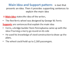 learning objective identify idea and support patterns in