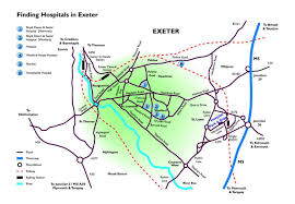 Exeter England Map by Rd U0026e Nhs Ft Getting Here Location Maps