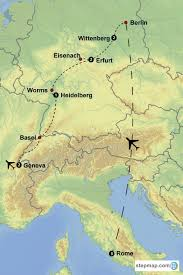 Erfurt Germany Map by Redeemer Reformation Trip