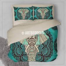 Turquoise Chevron Duvet Cover Bedroom Bohemian Duvet Bohemian Duvet Cover King Hippie Duvet