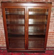 Antique Oak Bookcase With Glass Doors Glass Door Bookcase Antique Handballtunisie Org