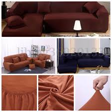sofa slipcovers ebay l shape stretch elastic fabric sofa cover pet dog sectional corner
