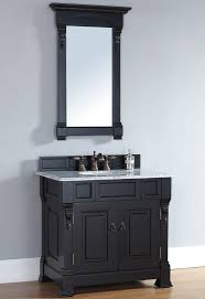 brookfield 36 inch cottage antique black bathroom vanity carrera