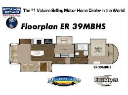 2018 heartland rv elkridge 39mbhs bunk house rv w 2 a c jacks