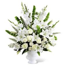flower for funeral classic white funeral arrangements cathy cowgill flowers