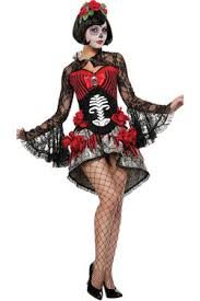 Womens Skeleton Halloween Costume Women Printed Rose Skull Skeleton Catsuit Halloween Costume