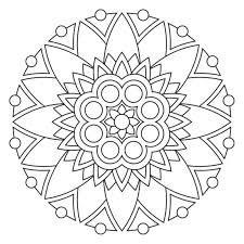 simple mandala coloring pages eson