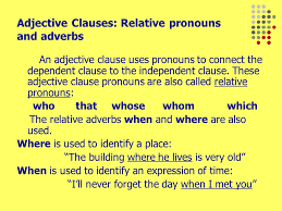 adjective clauses the american thanksgiving feast which