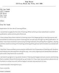 training officer cover letter example icover org uk