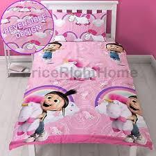 despicable me daydream fluffy unicorn agnes single duvet cover set