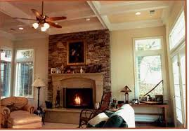 Ceiling Ls For Living Room Family Living Space With Coffered Ceilings And Fireplace