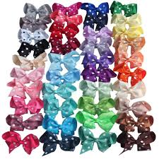 school hair accessories 40 colors available 4 inch polka dots hair bow hair hairpins