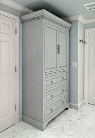 Bathroom Linen Cabinets Gray Glazed Linen Cabinet