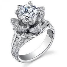 flower shaped rings images Amazing flower shaped wedding rings wedding ideas jpg