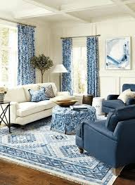 blue and white floral pattern curtains blue leather sofa circle