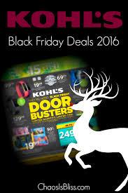 black friday kohls kohl u0027s black friday deals 2016