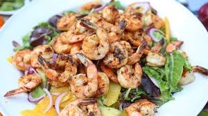seared shrimp salad recipe emeril lagasse recipe abc news