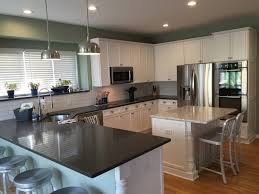 Behr Paint For Kitchen Cabinets My New Kitchen White Cabinets And Caesarstone Counters Pietra