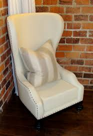 Slip Cover Round Back Chair Covers Furniture Comfortable White Wingback Chair Slipcover With Round Table