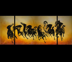feng shui painting horse painting chinese horse painting jons