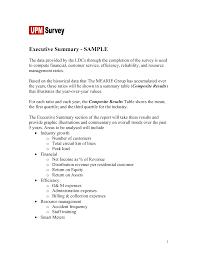sample executive summary example executive summary report examples
