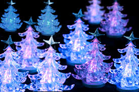 photo of illuminated christmas trees free christmas images