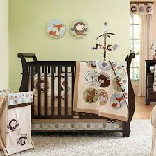 Baseball Nursery Bedding Sets by Forest Jungle Theme Bedding Sheet For Black Wooden Crib