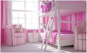 Stylish Girls Pink Bedrooms Ideas - Girls room with bunk beds