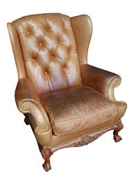 Hancock And Moore Leather Chair Prices Vintage Hancock U0026 Moore British Leather Chesterfield Wingback