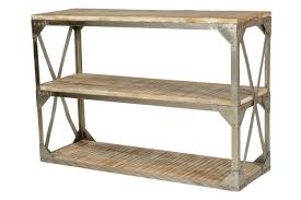Mango Wood Outdoor Furniture - industrial natural mango wood console table by cdi furniture